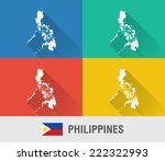 philippines world map in flat...