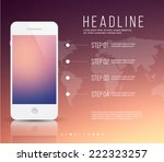 white mobile   smartphone and... | Shutterstock .eps vector #222323257