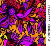abstract seamless ornamental... | Shutterstock .eps vector #222344587