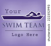 swim team logo template with... | Shutterstock .eps vector #222352993