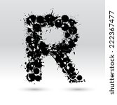 letter r formed by black and... | Shutterstock .eps vector #222367477