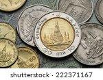 coins of thailand. wat arun...   Shutterstock . vector #222371167