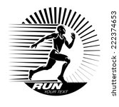 running. vector illustration in ... | Shutterstock .eps vector #222374653