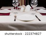 Empty White Plate In A Formal...