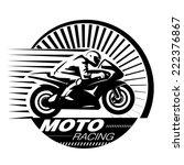 motorcycle racer. vector... | Shutterstock .eps vector #222376867