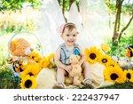 summer portrait of beautiful... | Shutterstock . vector #222437947