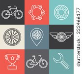 vector hipster bicycle logo... | Shutterstock .eps vector #222466177