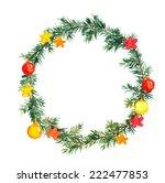christmas tree  spruce tree ... | Shutterstock . vector #222477853