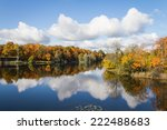 Stock photo on the shore of a lake in autumn 222488683