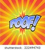poof  wording sound effect set... | Shutterstock .eps vector #222494743