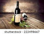 twho bottles of red wine  | Shutterstock . vector #222498667