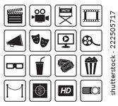 cinema icon   Shutterstock .eps vector #222505717