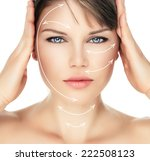 laser therapy on pretty woman... | Shutterstock . vector #222508123