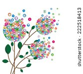 floral from social network... | Shutterstock .eps vector #222518413