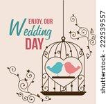 wedding design over beige... | Shutterstock .eps vector #222539557