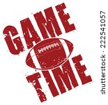 football game time is an... | Shutterstock . vector #222541057