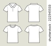 blank white t shirts  front and ... | Shutterstock .eps vector #222545533