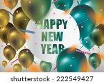 happy new year celebration... | Shutterstock .eps vector #222549427