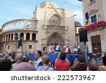 valencia  spain   october 9 ... | Shutterstock . vector #222573967