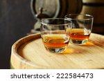 glasses of brandy in cellar... | Shutterstock . vector #222584473