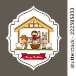 merry christmas graphic design  ... | Shutterstock .eps vector #222585853