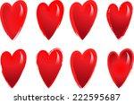 vector hearts | Shutterstock .eps vector #222595687