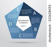 pentagonal infographic    Shutterstock .eps vector #222628453