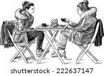 outdoor cafe | Shutterstock .eps vector #222637147