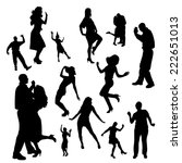 vector silhouette of people who ... | Shutterstock .eps vector #222651013