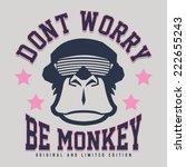 Monkey Illustration  Typograph...