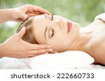 woman relaxing at a spa having... | Shutterstock . vector #222660733