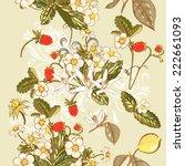 vector seamless wallpaper...   Shutterstock .eps vector #222661093