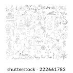 merry christmas signs doodle...   Shutterstock .eps vector #222661783