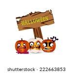 halloween pumpkins   Shutterstock . vector #222663853