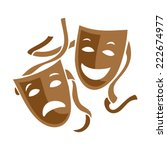comedy and tragedy theater... | Shutterstock .eps vector #222674977