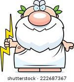 a cartoon illustration of zeus...