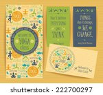 design set for yoga class.... | Shutterstock .eps vector #222700297