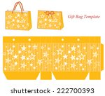 yellow gift bag template with... | Shutterstock .eps vector #222700393
