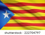 series of ruffled flags  ... | Shutterstock . vector #222704797