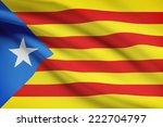 series of ruffled flags  ... | Shutterstock . vector #222704797