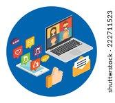 social media concept for web... | Shutterstock .eps vector #222711523