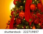 christmas decorations on... | Shutterstock . vector #222719857