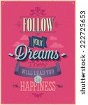 "vintage ""follow your dreams""... 