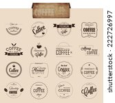 set of line coffee badges and... | Shutterstock .eps vector #222726997