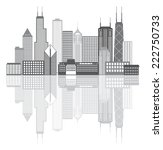Chicago Illinois City Skyline...