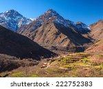 moroccan high atlas mountains   Shutterstock . vector #222752383
