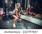 beautiful woman working out... | Shutterstock . vector #222797047