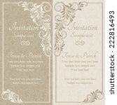 baroque invitation card in old... | Shutterstock .eps vector #222816493