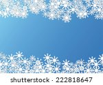 christmas background made with... | Shutterstock .eps vector #222818647