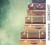 vintage  suitcase | Shutterstock . vector #222821437